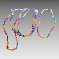 """Austrian Crystal bright multicolor 60"""" necklace"""