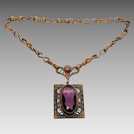 Early Czechoslovakia pendant necklace early Art Deco
