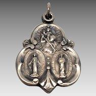 Sterling Religious Saints charm pendant St Christopher Mary Jesus