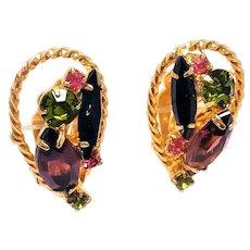 Juliana Multi color lovely clip earrings