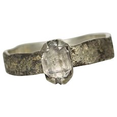 Herkimer Diamond Gold Silver Ring