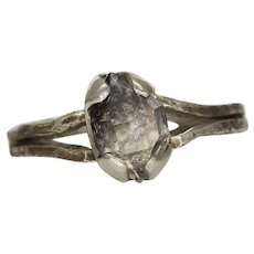 A Woman's Herkimer Diamond Silver Ring