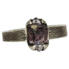 Herkimer Diamond Quartz Crystal Ring