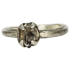 A Womans Herkimer Diamond Ring Band