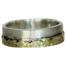 A Gold Silver Mountain Ring