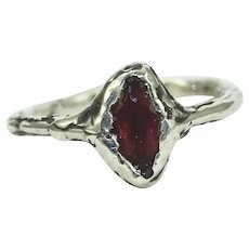 A Ruby Silver Womans Ring