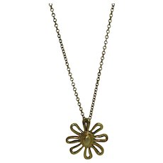 Tiffany & Co. Picasso Daisy 18K Pendant Necklace