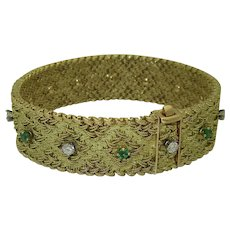 Georges Lenfant 18K Emerald Diamond Bracelet