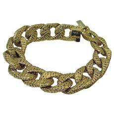 Vintage Georges Lenfant 18K Link Bracelet for FRED