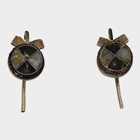 Rare Antique 14K California Gold Rush Earrings