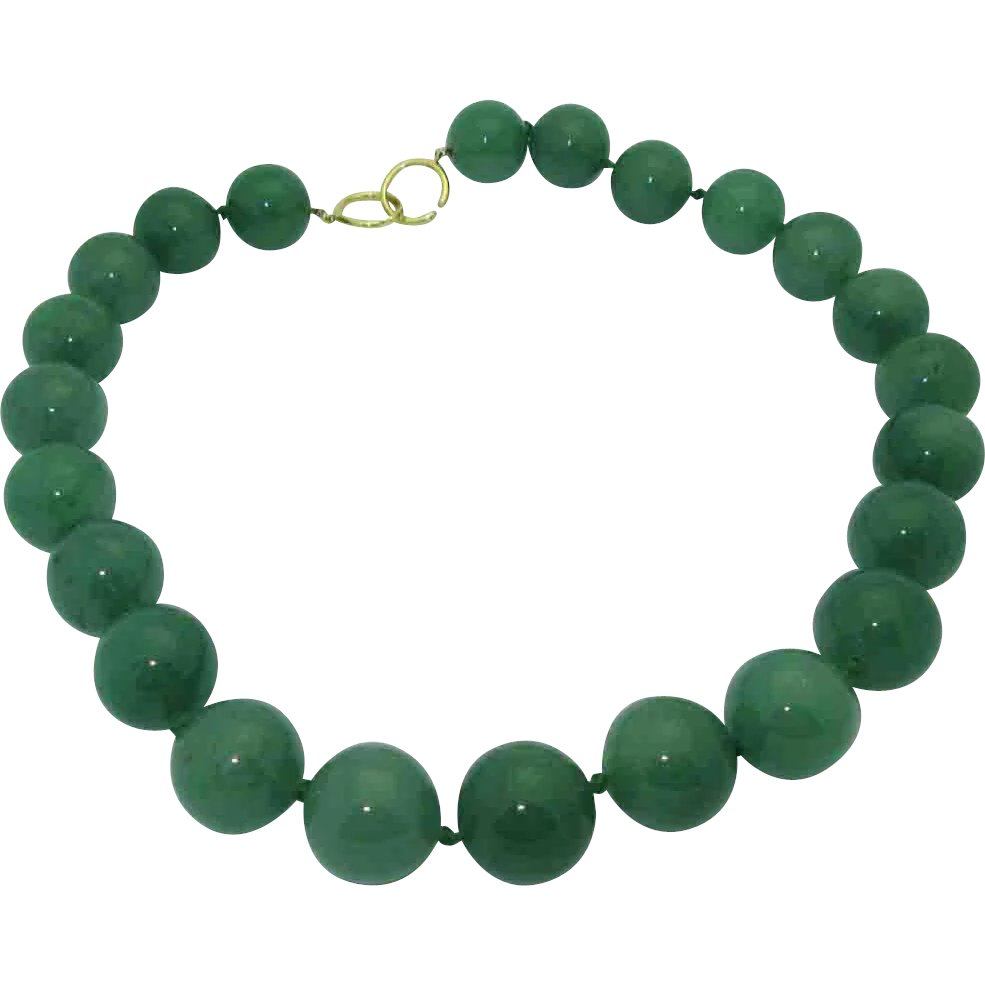 3a3ebdc4bd91a Paloma Picasso Tiffany Co. 18K Aventurine Bead Necklace ...