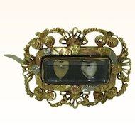 Antique 18K Platinum Lover's Pin