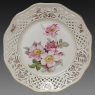 """Stunning Schumann Rosedale Reticulated 9 1/2"""" Luncheon Plates"""
