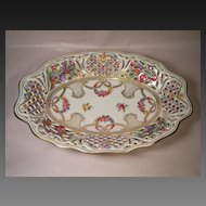 "Schumann ""Dresden Wreath"" Bread Basket Germany US-Zone"