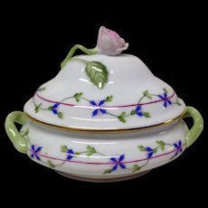 Herend Blue Garland Mini Tureen Pattern PBG