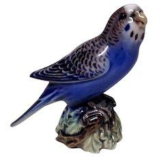 Superb Dahl Jensen Blue Parakeet Budgerigar 1308 Figurine