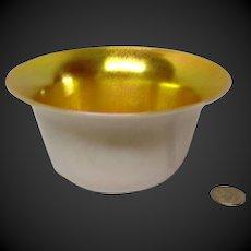 Steuben Gold Aurene Calcite Bowl