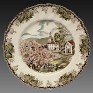 "Johnson Bros. Friendly Village ""The Village Green"" Large Dinner Plate"