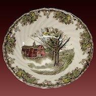 """Johnson Bros. Vintage Friendly Village """"Autumn Mists"""" Round Vegetable"""