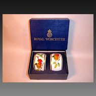 Royal Worcester EVESHAM Pair of Napkin Rings with Box