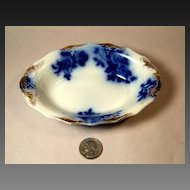 GIRONDE Flow Blue Individual Baker or Vegetable Bowl by W.H.Grindley & Co.