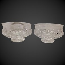 "Pair (2) Waterford Comeragh 5"" Footed Bowl"