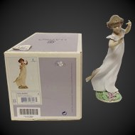 """Boxed Lladro """"Violets, Time of Innocents"""" #6947"""