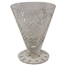 Rare Hawkes Strawberry Diamond & Fan Footed Juice Glass, Stem #7240