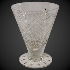 Rare Hawkes Strawberry Diamond & Fan Footed Juice Glass, Stem #7240