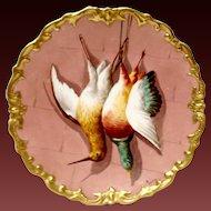 Wonderful Lazeyras Rosenfeld & Lehman (LRL) Artist-Signed Limoges Game Plate