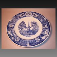 Wedgwood MacMurray College for Women 1956 Centennial Plate