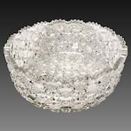 Superb Harvard Pattern American Brilliant Period ABP Glass Large Serving Bowl