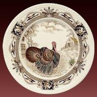 Johnson Bros. Barnyard King Turkey Dinner Plate
