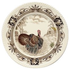 Johnson Bros. Barnyard King Turkey Dinner Plate