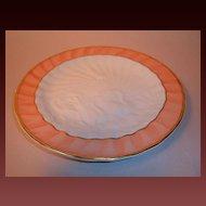 "Mottahedeh ""Salmon Swan"" Dinner Plate"