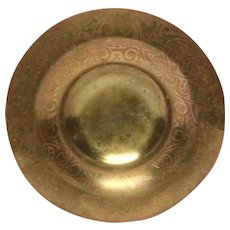 Tiffany Copper and Bronze or Brass Mixed Metal Shallow Bowl
