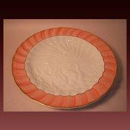 "Mottahedeh ""Salmon Swan"" Salad/Dessert Plate"