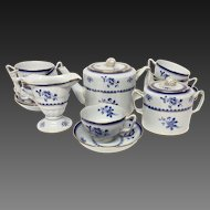 Spode Gloucester Blue Y2649 Made For Tiffany Tea Set