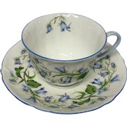 Delicate Shelley Harebell #13590 Cup & Saucer, Oleander Shape