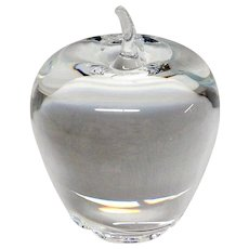 Stunning Steuben Crystal Apple Paper Weight #7874