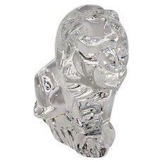 Delightful Steuben Crystal Lion Hand Cooler