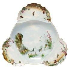 Stunning Antique CFH Limoges Large Footed Dessert Bowl