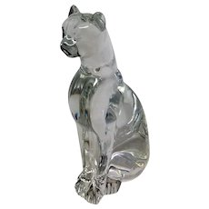 Baccarat Crystal  Egyptian Cat Figurine