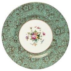 Stunning Minton Brocade Aqua Dinner Plate