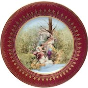 """Royal Vienna Style """"Der Liebling"""" Plate Signed Weh"""
