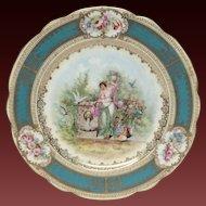 Austrian Imperial Crown China Portrait Plate