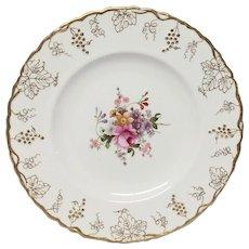 R. Crown Derby Vine Posie Center A929 Dinner Plate