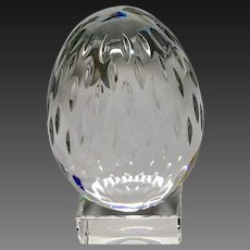Stunning Baccarat Cut Crystal Egg & Stand