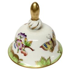 Herend Queen Victoria VBO Dinner Bell Early Mark