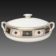 "Royal Crown Derby ""Derby Border"" A1273 Oval Covered Vegetable"